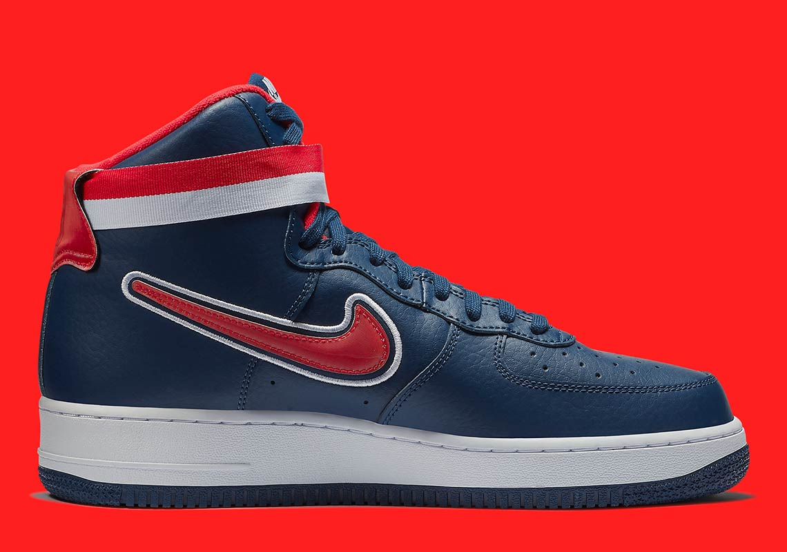 nike air force 1 high nba wizards av3938 400 5 - Nike Air Force 1 High Washington Wizards AV3938-400