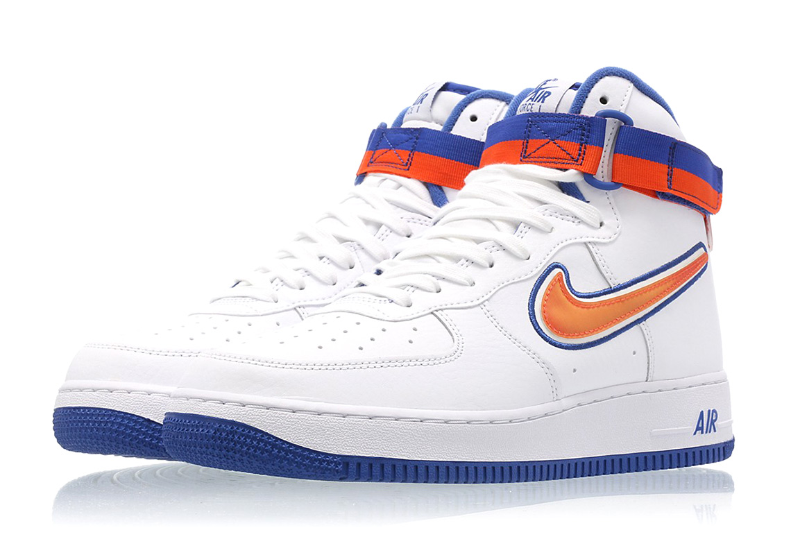 outlet store c1188 2eb86 Nike Air Force 1 High Knicks AV3938-100   SneakerNews.com