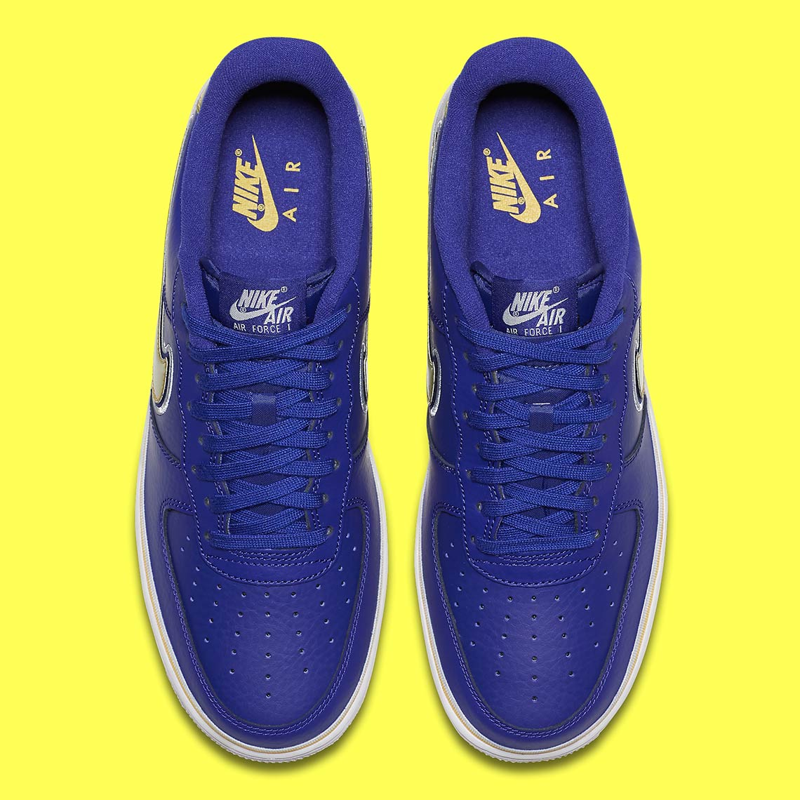 nike air force 1 low warriors aj7748 400 1 - Nike Air Force 1 Low Golden State Warriors