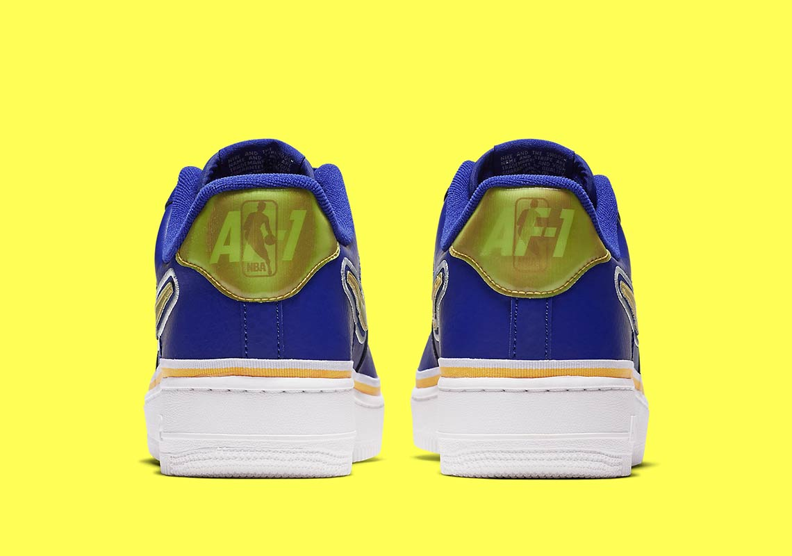nike air force 1 low warriors aj7748 400 3 - Nike Air Force 1 Low Golden State Warriors