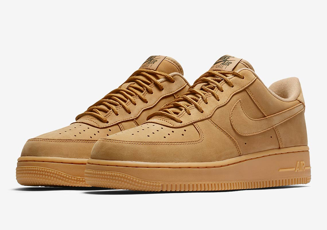 competitive price 4a867 07df0 Nike Air Force 1  07 WB  120. Color  Flax Gum Light Brown Outdoor Green Flax