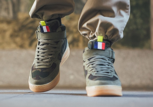 """Nike Brings Back The """"Country Camo"""" Pack With This Air Force 1 Mid For France"""