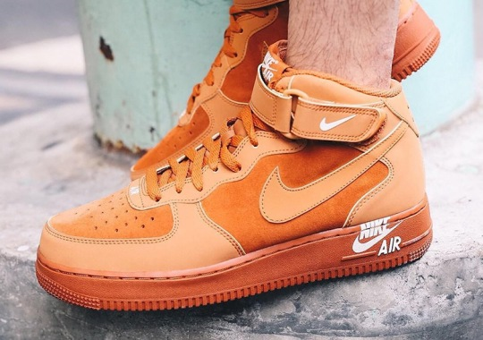 Nike Air Force 1 Mid Adds New Logo To The Midsole