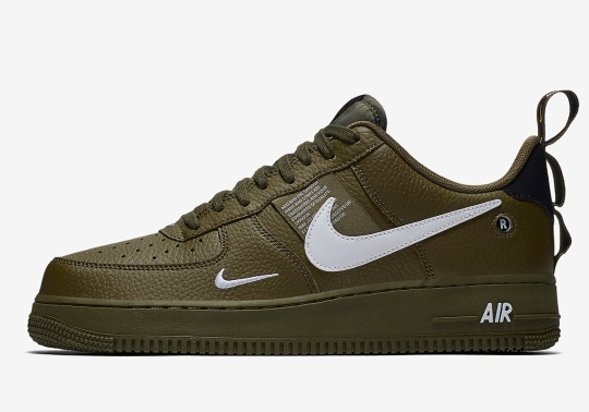 """Nike Air Force 1 Utility Is Arriving Soon In """"Olive Canvas"""""""