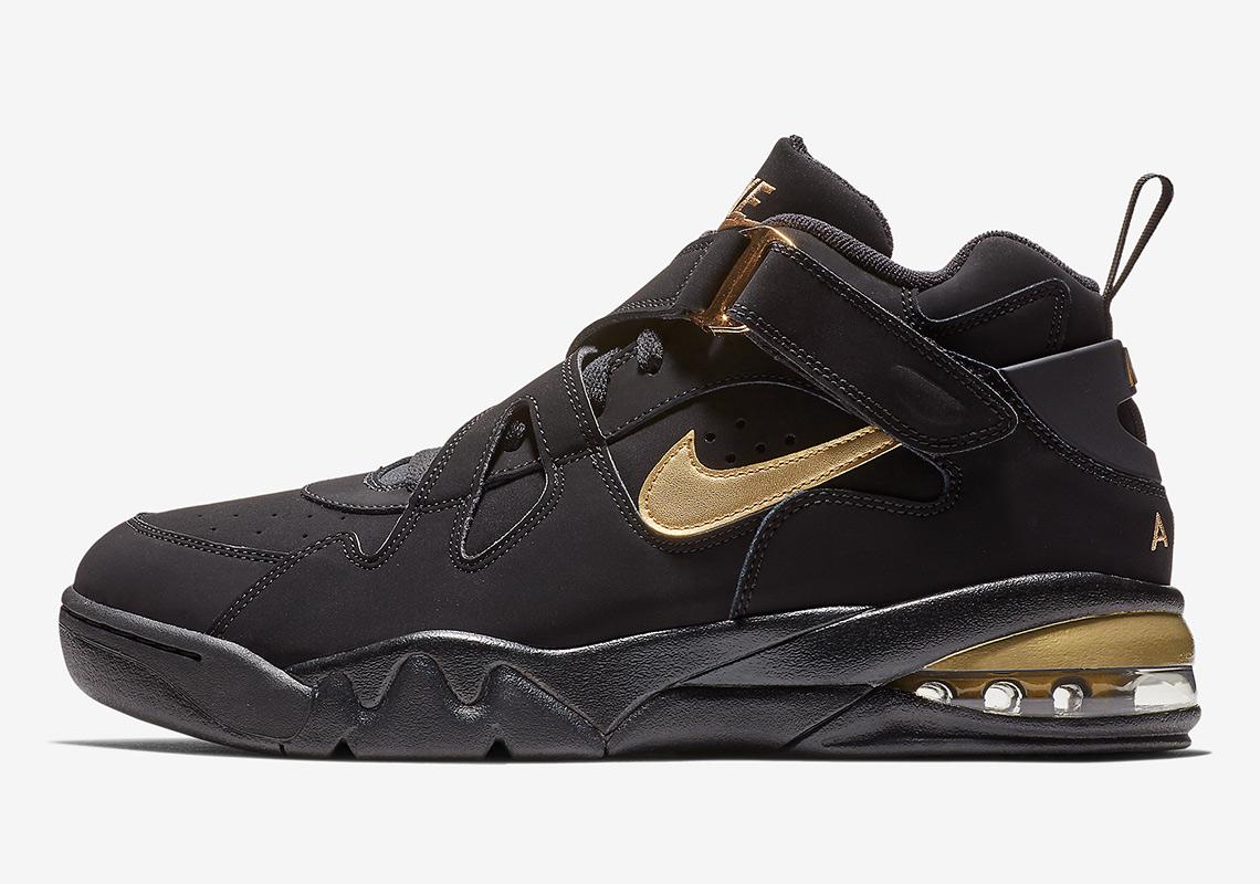 cheap for discount de4f1 4a85d Nike Air Force Max CB Black Gold AJ7922-001 Release Info ...