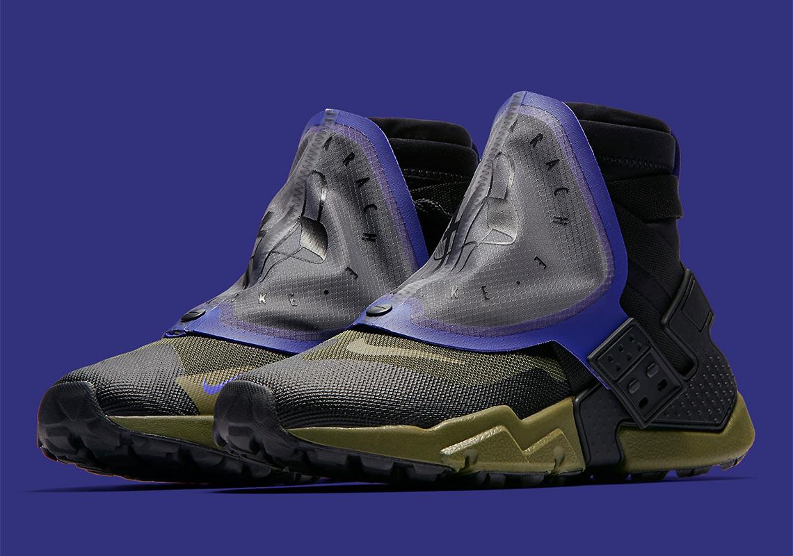 separation shoes 448dd 67771 Air Huarache Grip QS Release Date September 22, 2018. Color BlackOlive  Canvas-Indigo Burst