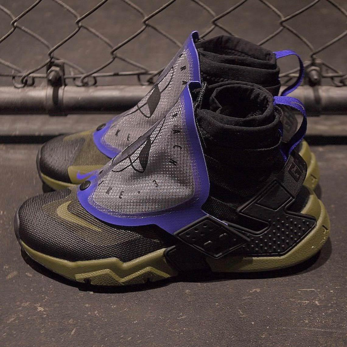 nike air huarache grip black olive - Nike Air Huarache Grip First Look