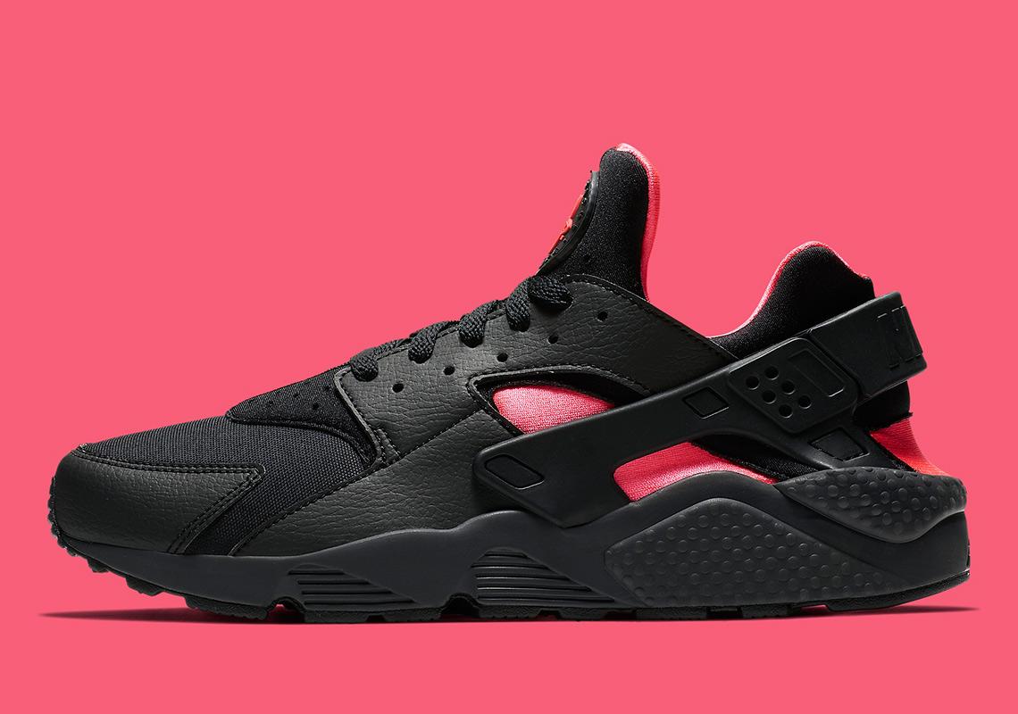 release date: fa7ba f7c33 Nike Air Huarache Black Pink 318429-055 Release Info   SneakerNews.com