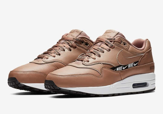 The Nike Air Max 1 In Tan Adds New Logo Elements