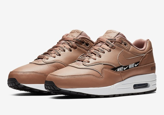 best website d125c 830d5 The Nike Air Max 1 In Tan Adds New Logo Elements