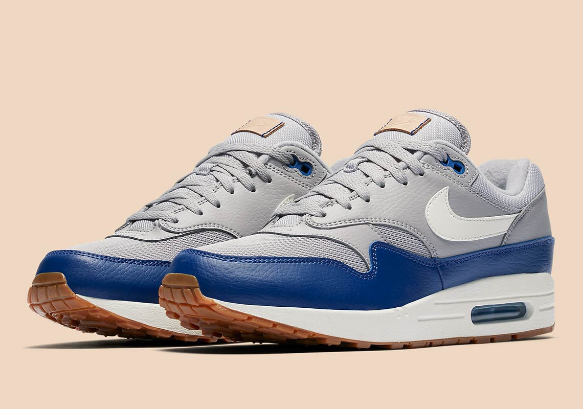 buy popular 11905 4db98 Grey And Royal Blue Combine On This New Air Max 1
