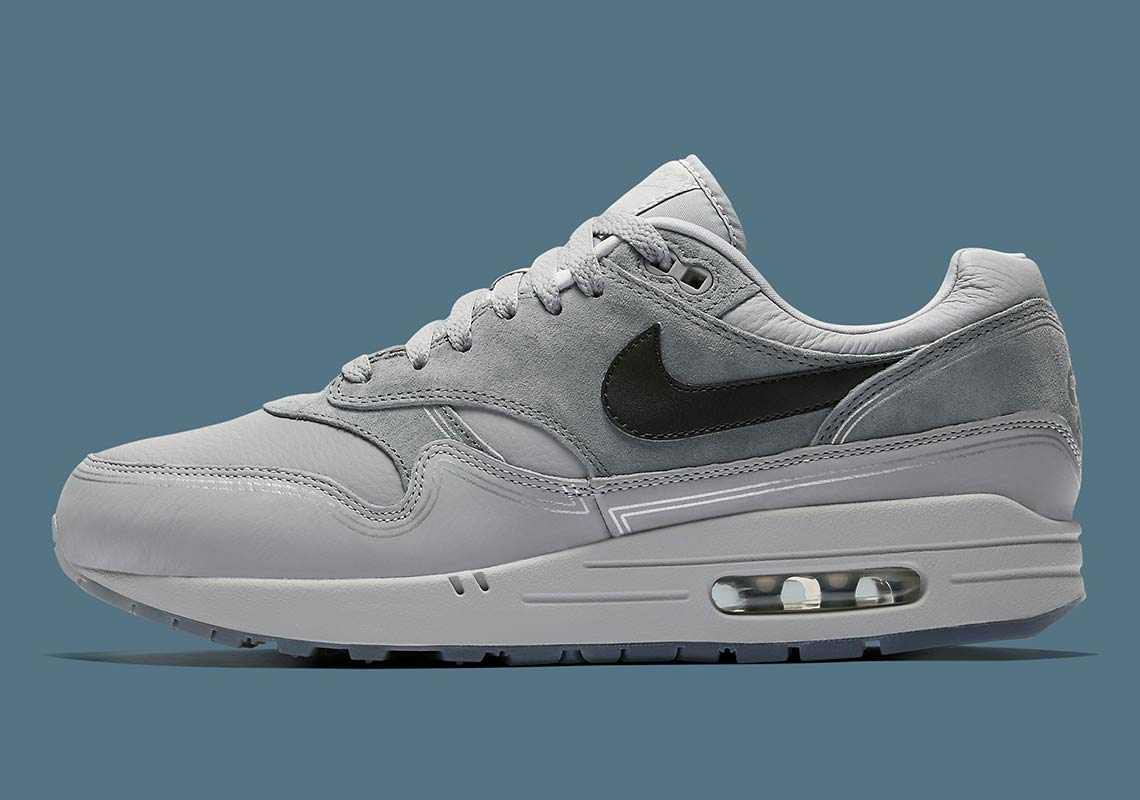 "1624d9770b Nike Air Max 1 ""Pompidou Center Night"" Release Date: September 20, 2018.  Color: Wolf Grey/Black-Cool Grey"