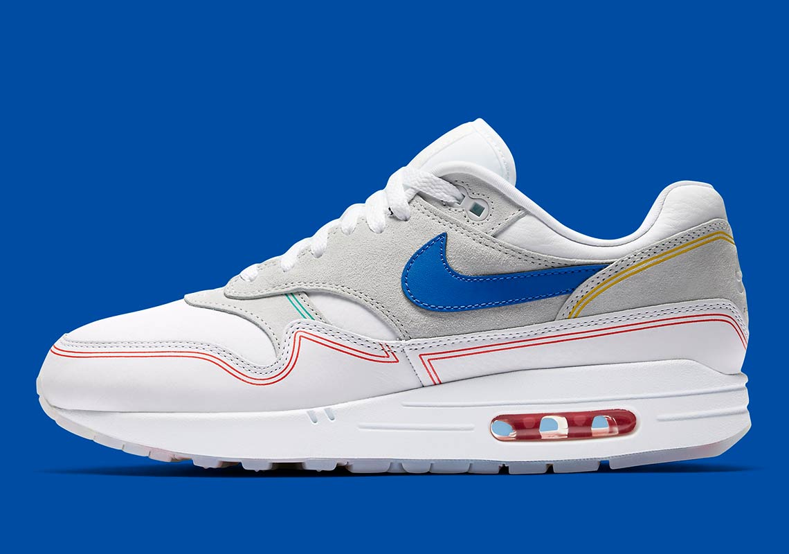 "00bc34a8dfc8c Grab another detailed look at both Air Max 1 ""Centre Pompidou"" iterations  below as well as our where to buy list that will help you secure a pair  upon their ..."
