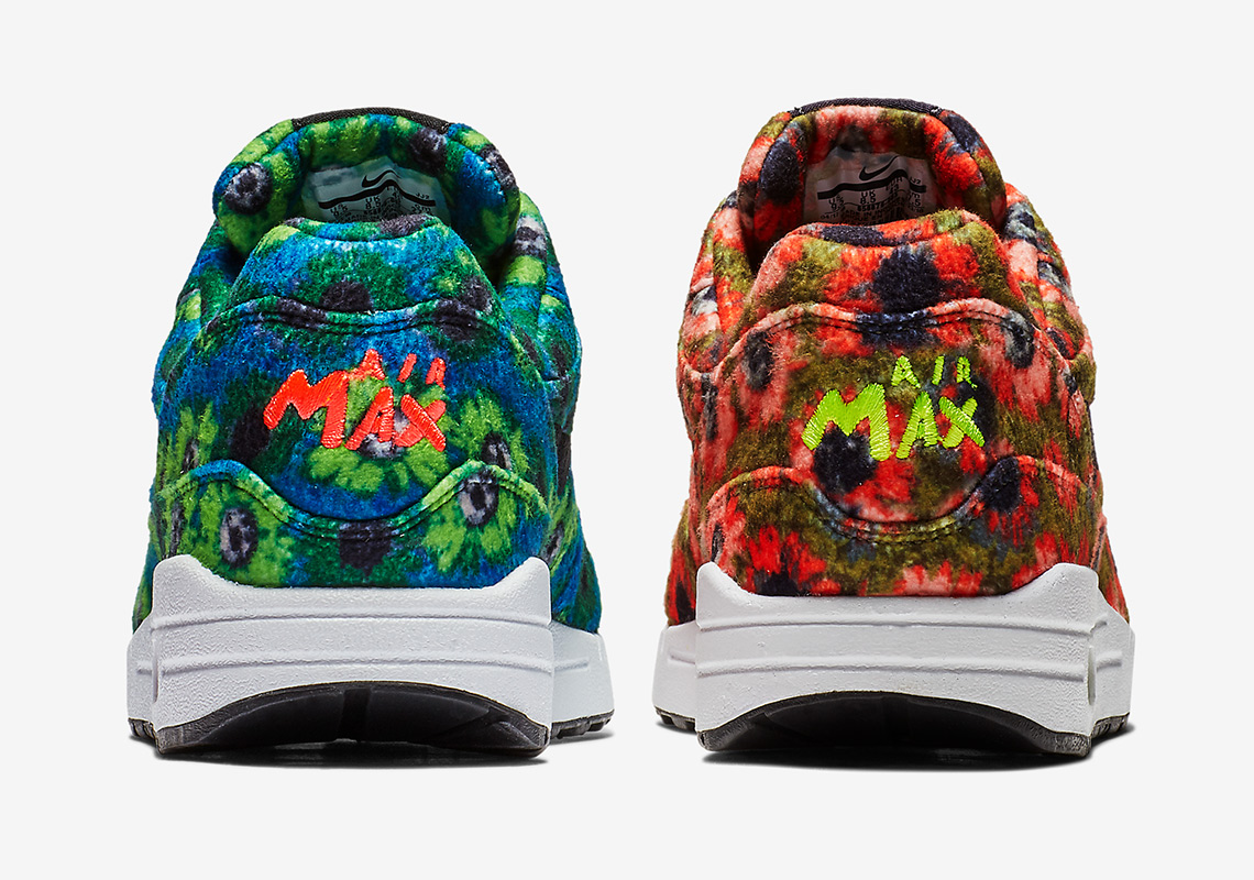 the best attitude c226e 77b5a Nike Pairs Floral Air Max 1s With Mowabb Themes