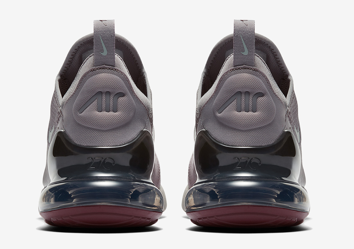 new products 49a1e f831d Nike Air Max 270. AVAILABLE AT Nike UK  150. Color  Atmosphere Grey Burgundy  Crush Light Silver Style Code  AH8050-016. Advertisement. Advertisement