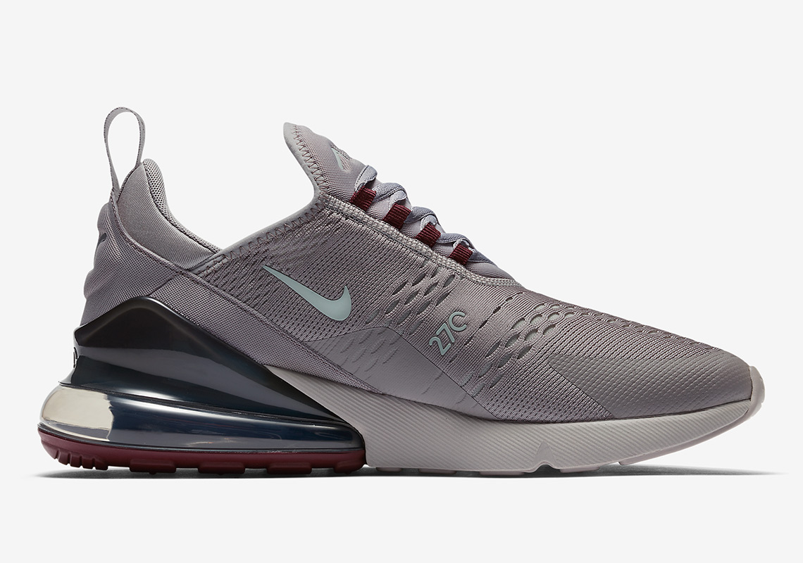 cheap for discount 90da7 6fe04 Nike Air Max 270. AVAILABLE AT Nike UK  150. Color  Atmosphere Grey Burgundy  Crush Light Silver Style Code  AH8050-016. Advertisement