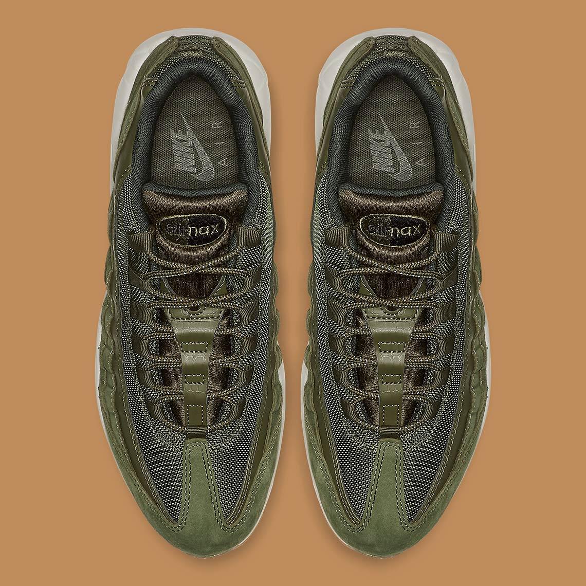 nike air max 95 olive aj2018 300 2 - Nike Air Max 95 Olive Canvas AJ2018-300 Release Info