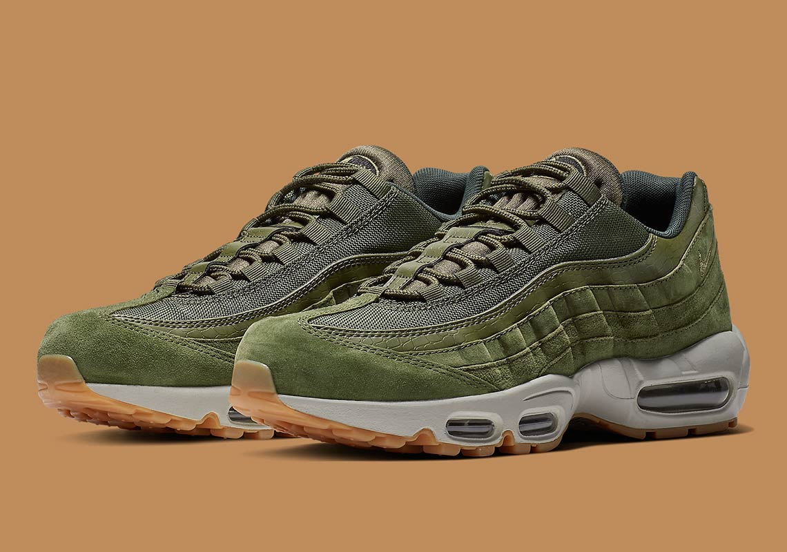 ab3734ddd2 Nike Air Max 95 Olive Canvas AJ2018-300 Release Info | SneakerNews.com