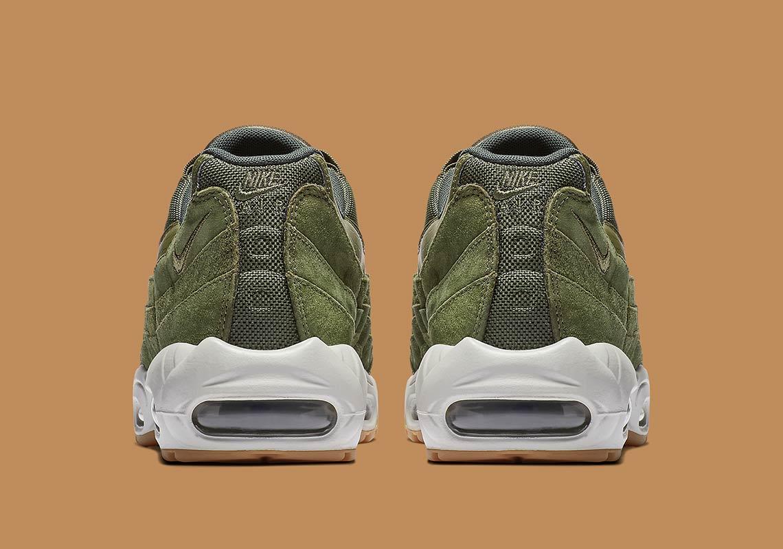 nike air max 95 olive aj2018 300 6 - Nike Air Max 95 Olive Canvas AJ2018-300 Release Info