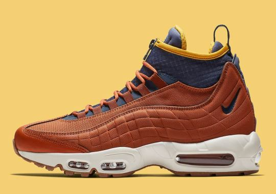 "best service d168b db18e The Nike Air Max 95 Sneakerboot Returns This Winter In ""Dark Russet"""