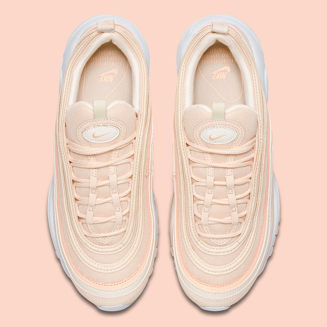 a8a0c157e3 Nike Air Max 97. AVAILABLE AT BSTN $160. Color: Guava Ice/Crimson Tint-Sail-Summit  White Style Code: 921733-801. Advertisement. Advertisement