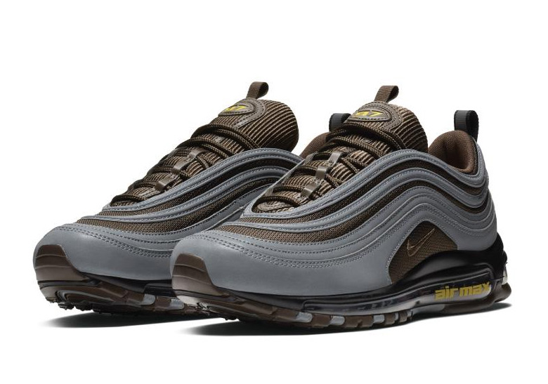 the latest fd4de d0c00 Nike Air Max 97. Color  Cool Grey Baroque Brown-University Gold Style Code   AV7025-001. Where to Buy. SNS Available