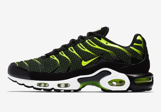 The Nike Air Max Plus In Black And Volt Is Available Now