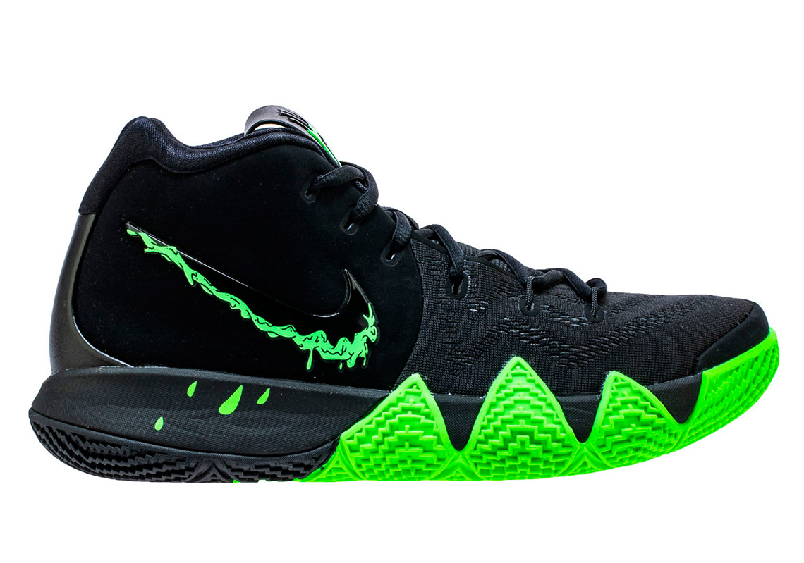 finest selection 91020 4f7b4 Nike Kyrie 4 Halloween Black Green 943806-012 | SneakerNews.com