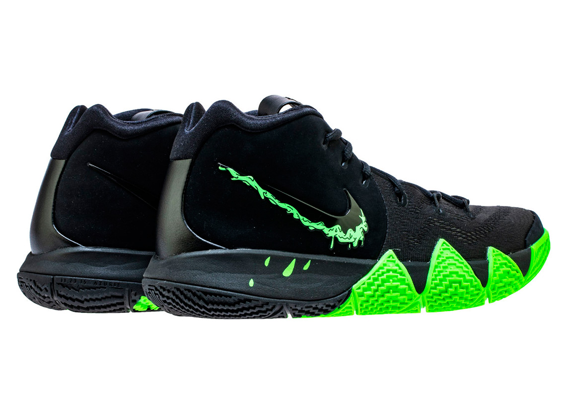 kyrie 4 halloween black and green
