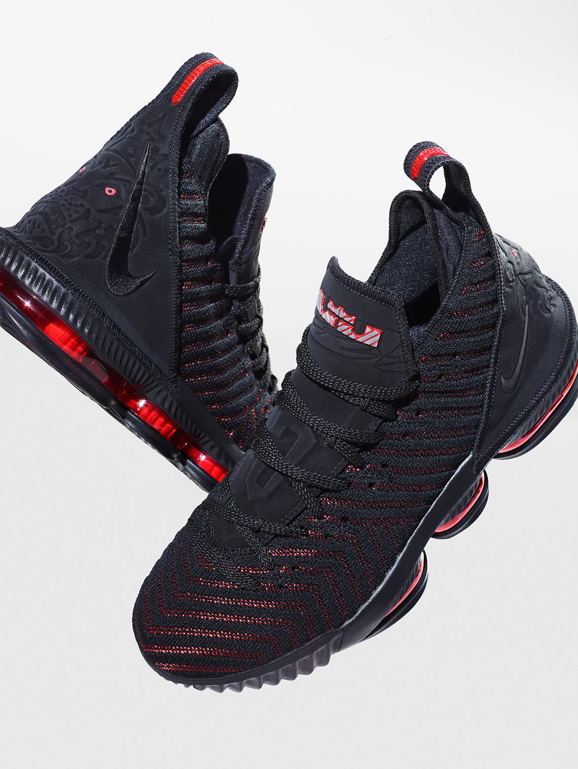 0ae4c024e6 Nike Lebron 16 Black Red Bred Fresh Bred