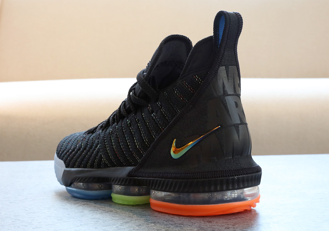 best sneakers 137a6 22386 Nike LeBron 16 I Promise We Are Family | SneakerNews.com