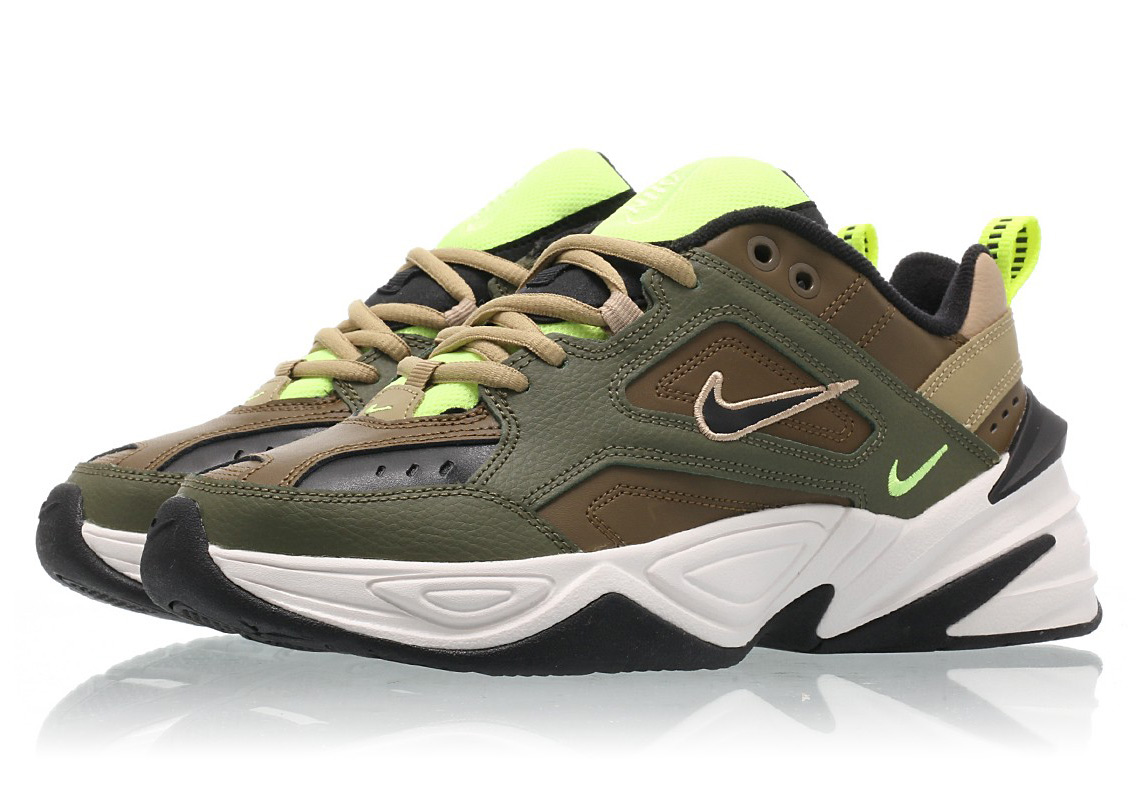 Nike M2K Tekno 130 CHF Color  Medium Olive Black-Yukon Brown 44c5d7563