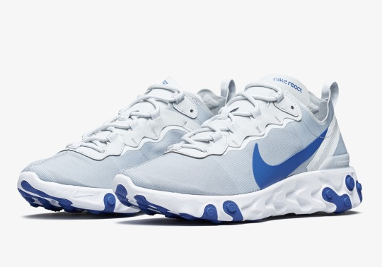 The Nike React Element 55 Adds Pure Platinum And Racer Blue