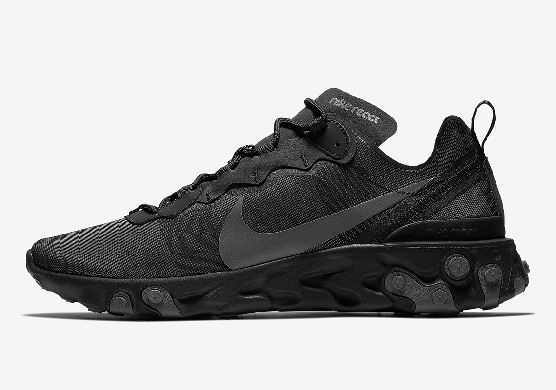 "new arrival 0d12d 6d451 Nike React Element 55 ""Triple Black"" Is Coming Soon"
