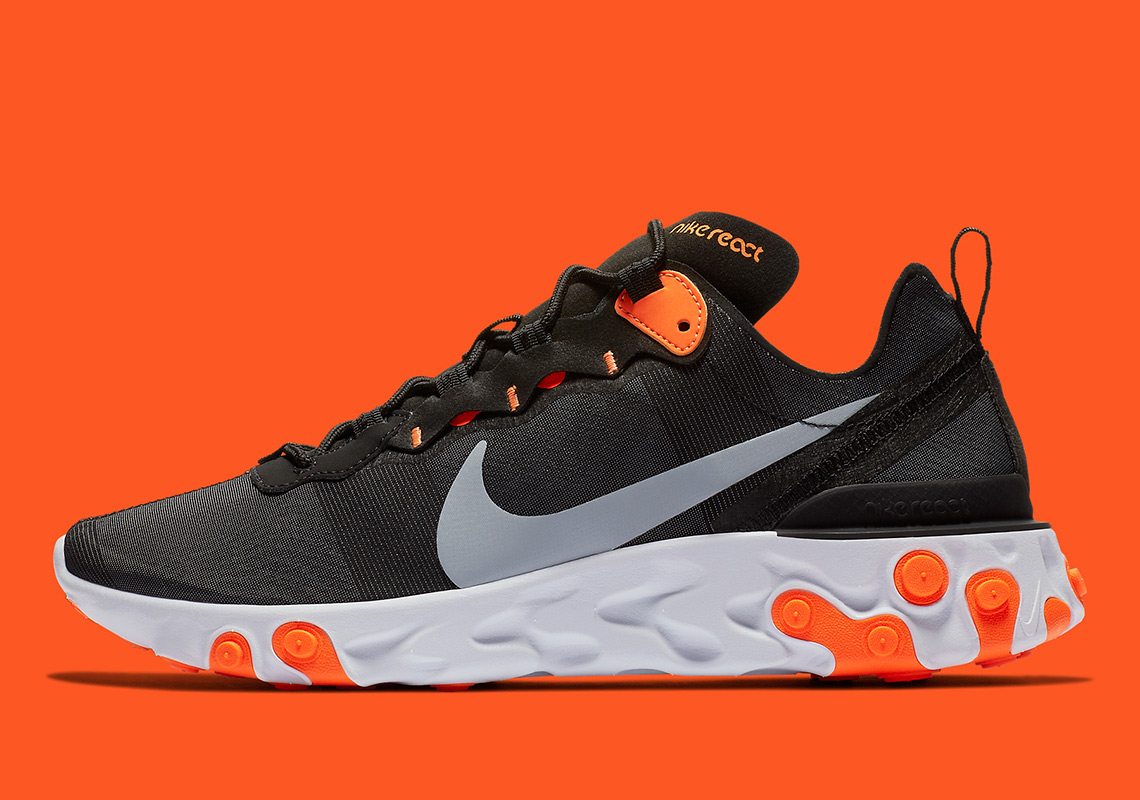 sale retailer 52d74 ffe54 Nike React Element 55 Appears In Black And Orange