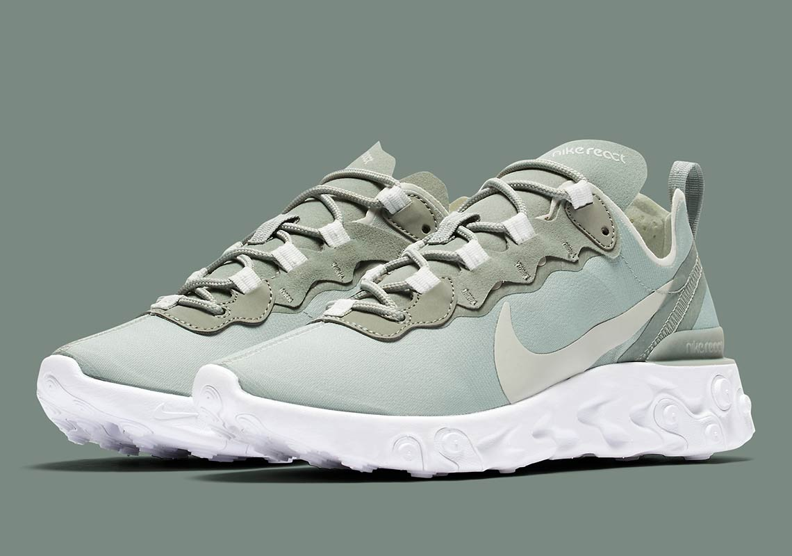 458eb2720a390 Nike React Element 55 Olive BQ2728-300 Release Info
