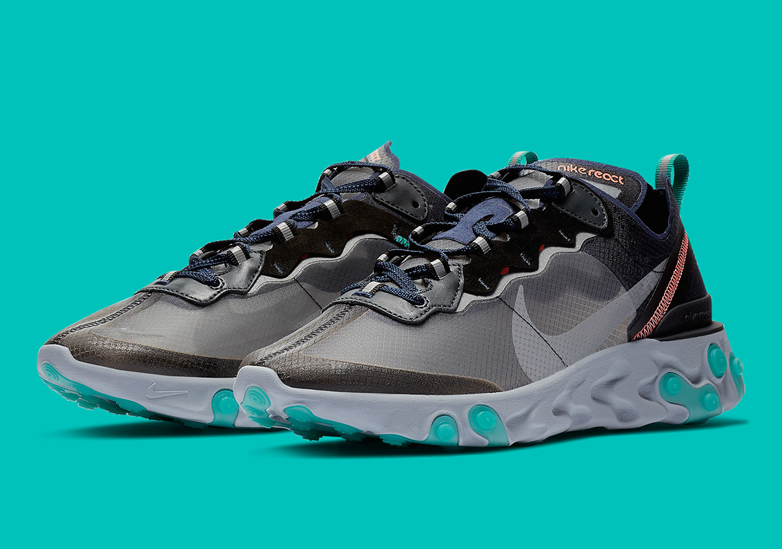 b35152bb4b7ea Where To Buy Nike React Element 87 Neptune Green Bright Mango AQ1090 ...