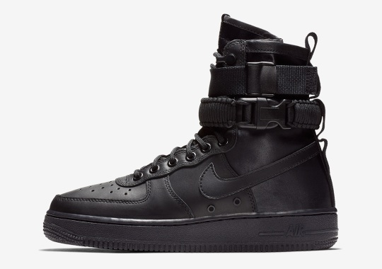 The Nike SF-AF1 Returns In Triple Black Leather