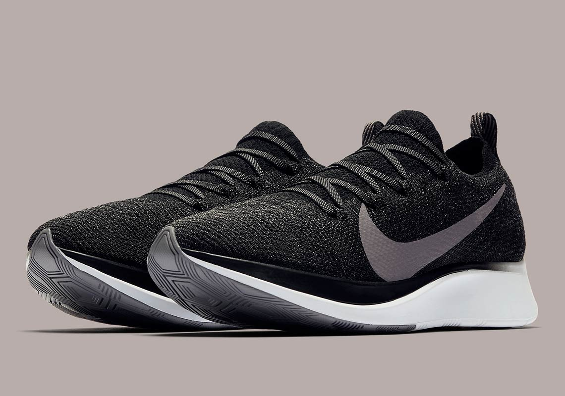 11bf08d55a7beb The Nike Zoom Fly Flyknit Is Arriving In Black And Gunsmoke Grey