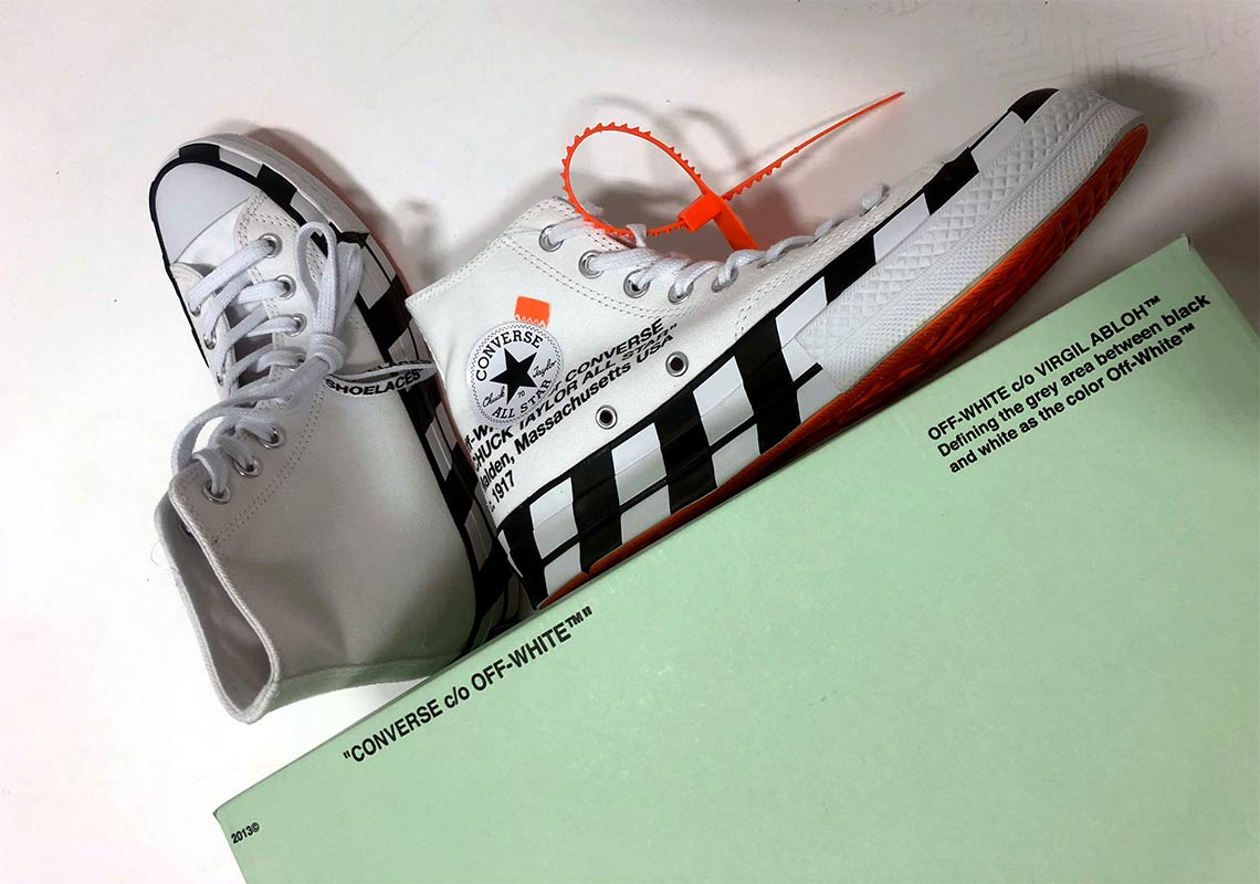 on feet shots of pretty cool exclusive deals Off-White Converse Chuck Taylor Release Date | SneakerNews.com
