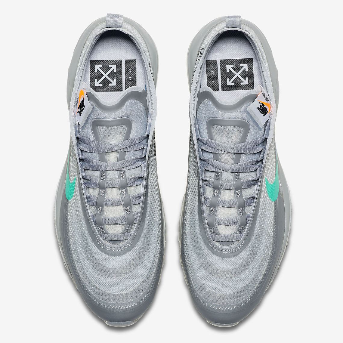 super popular 8f5d3 a9fc3 Off White Nike Air Max 97 Menta AJ4585-101   SneakerNews.com