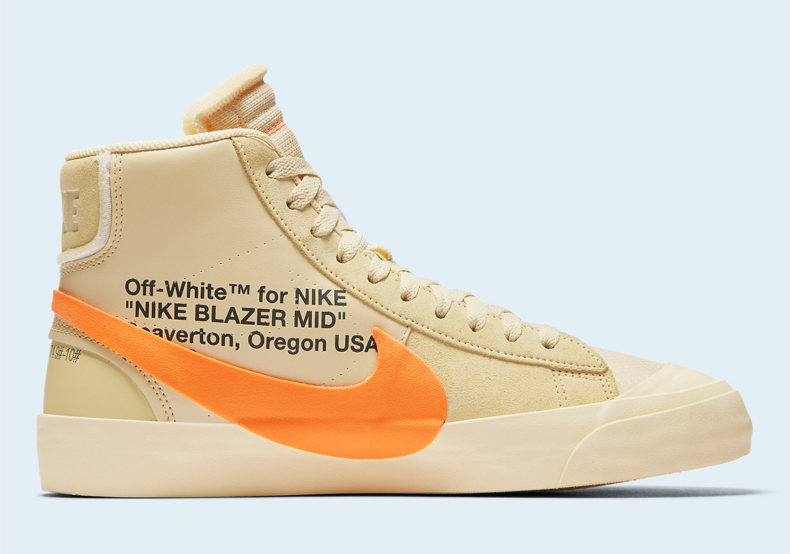 4e0746273585 Off White Nike Blazer Orange All Hallows Eve Where To Buy ...