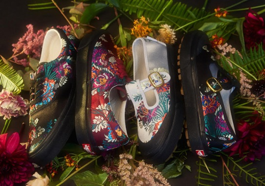 Opening Ceremony Teams Up With Vans For Satin Floral Collection