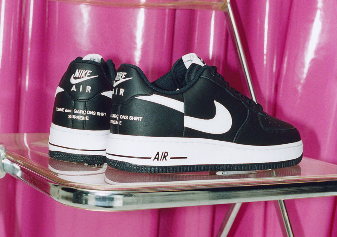 buy online 2cf92 c07a4 Supreme And Comme des Garçons SHIRT Reveal Nike Air Force 1 Low  Collaboration For November