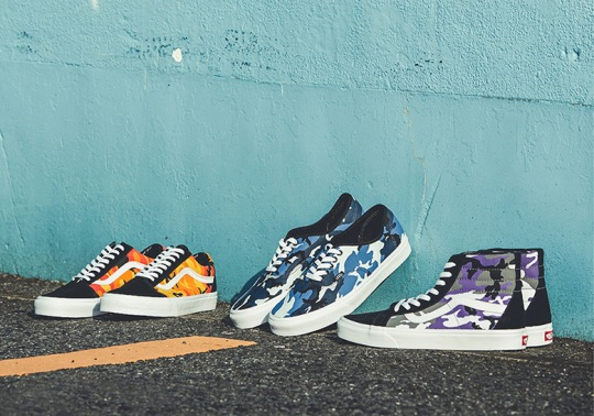Vans Releases A Colored Camo Pack