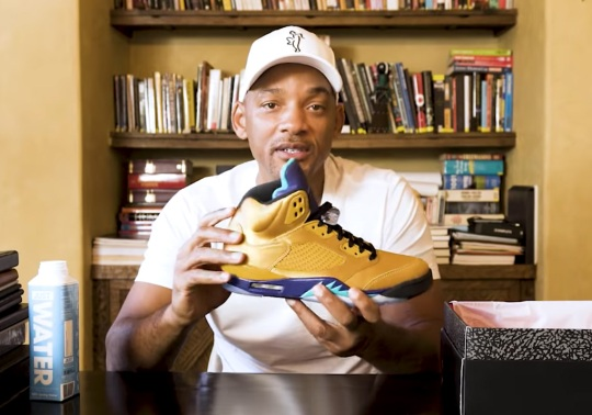"Will Smith Unboxes His Upcoming Air Jordan 5 ""Fresh Prince"" With Friends And Family Edition"