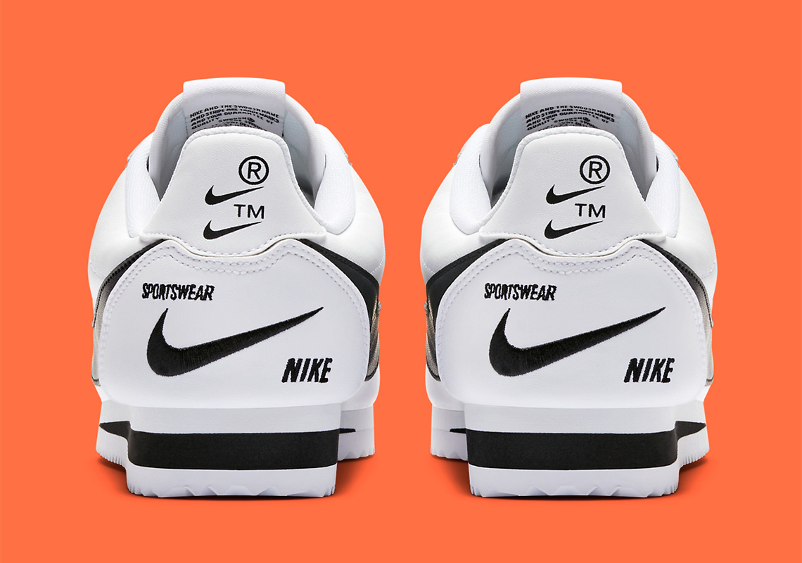 fc76dc2db2c Nike s Multi-Swoosh Cortez Is Releasing In White And Black