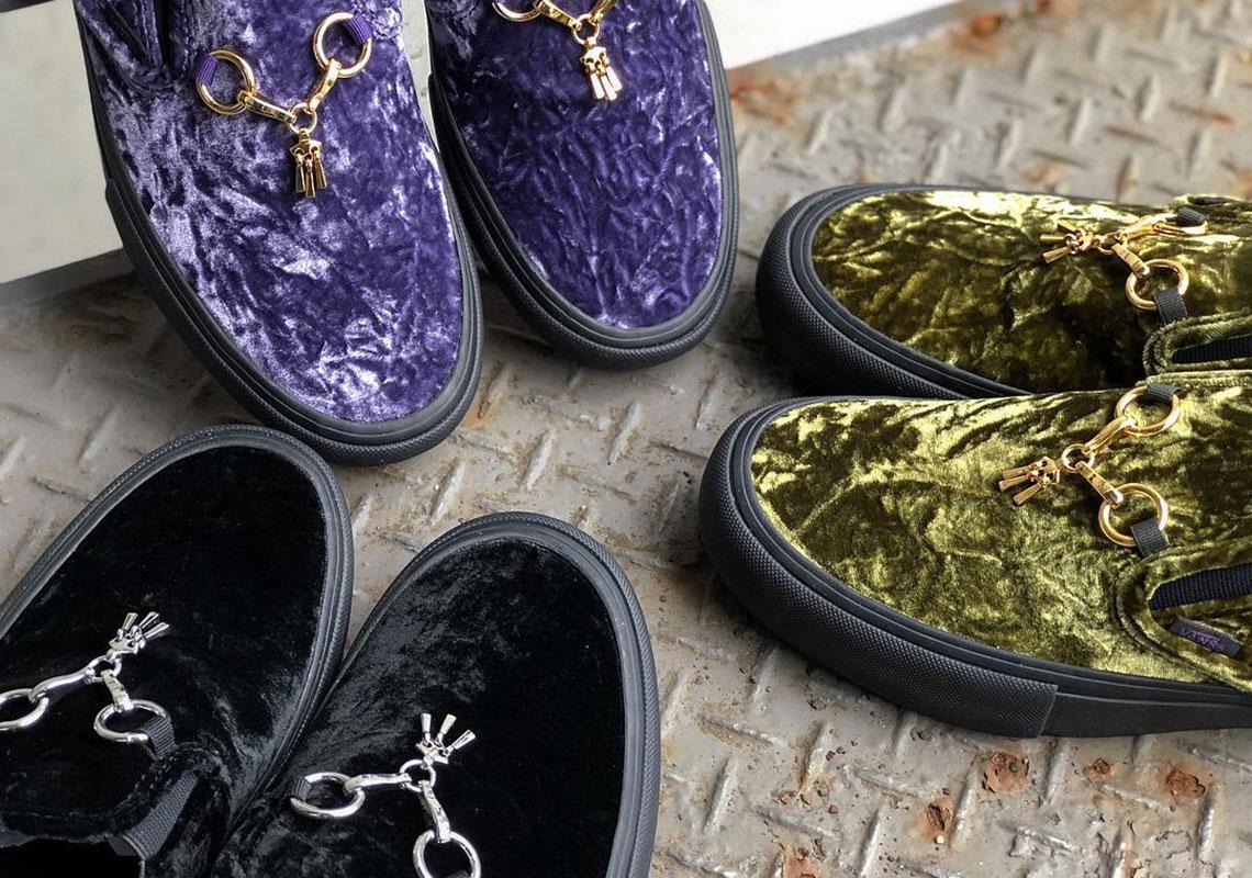 c786c54076 Needles And Vans Vault Present Three Luxurious Velvet-heavy Colorways