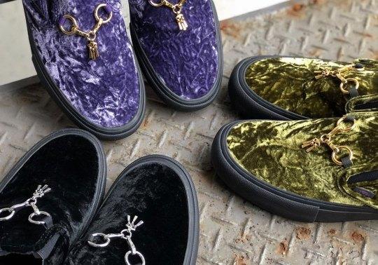 Needles And Vans Vault Present Three Luxurious Velvet-heavy Colorways