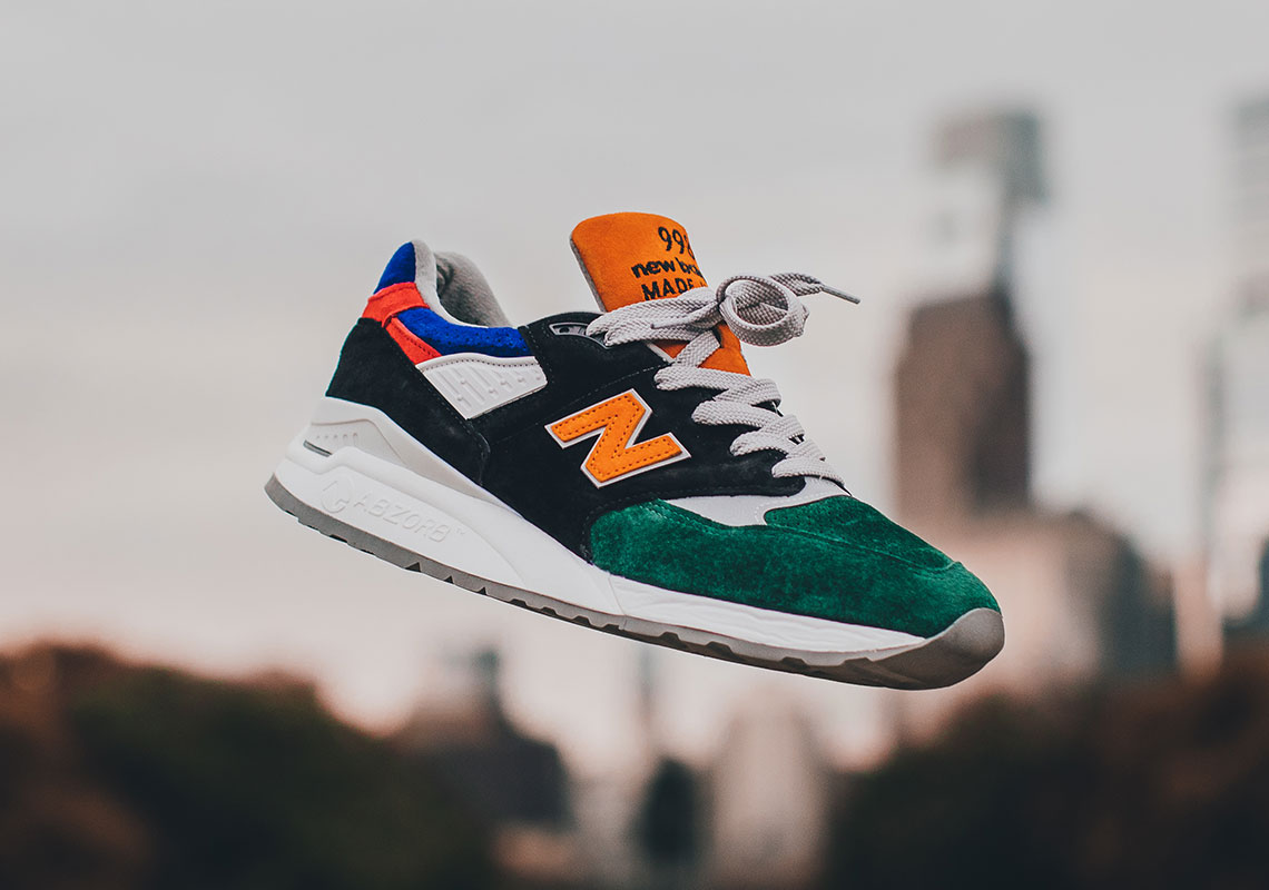 """7bd845fca10a Only 215 pairs of the NB 998 """"Four 4 Four"""" will be available on October  26th exclusively in Philadelphia."""